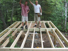 Subfloor for small cabin