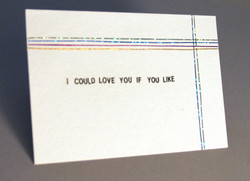 """""""I Could Love You If You Like"""" Postcard"""