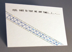 """""""Feel Free To Text Me Any Time"""" Postcard"""
