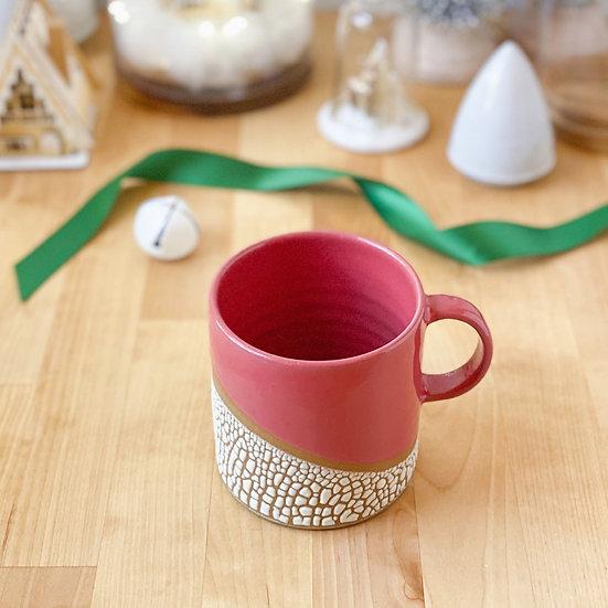 Cranberry Crackle Latte Mug