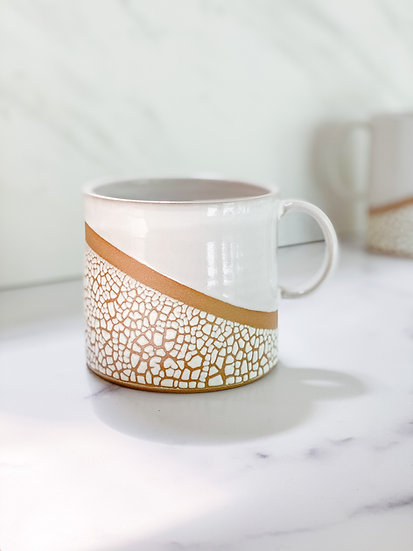Crackle Latte Mug