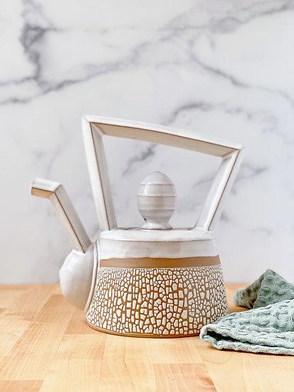 Crackle Teapot