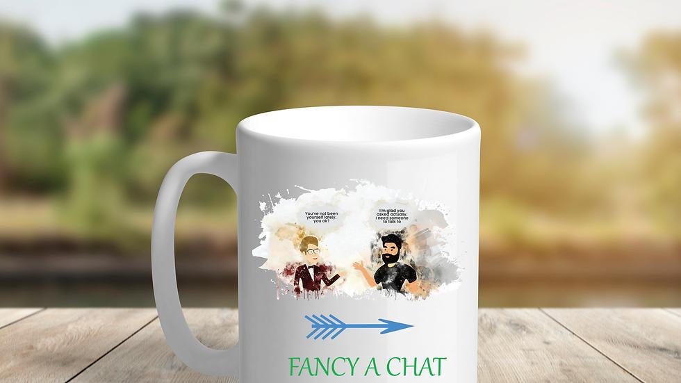 """Fancy A Chat"" Mugs"