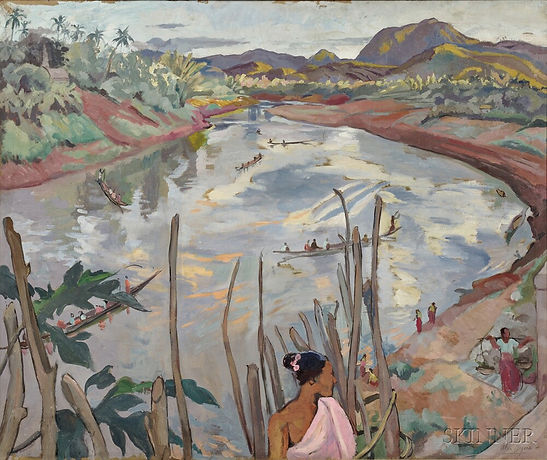 alix-ayme-1894-1989-river-landscape-of-l