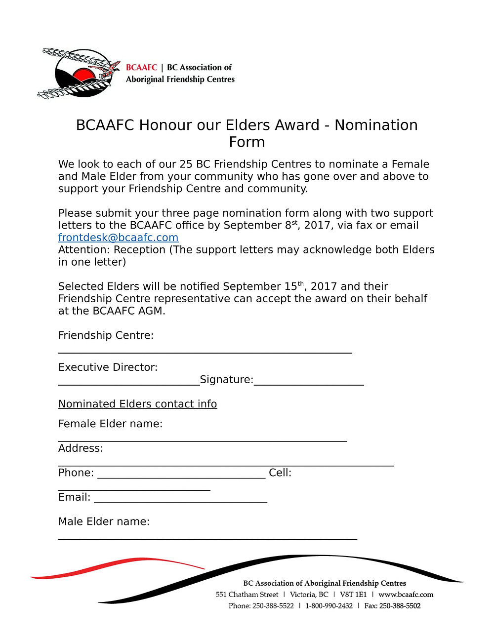 Honour our Elders Award!
