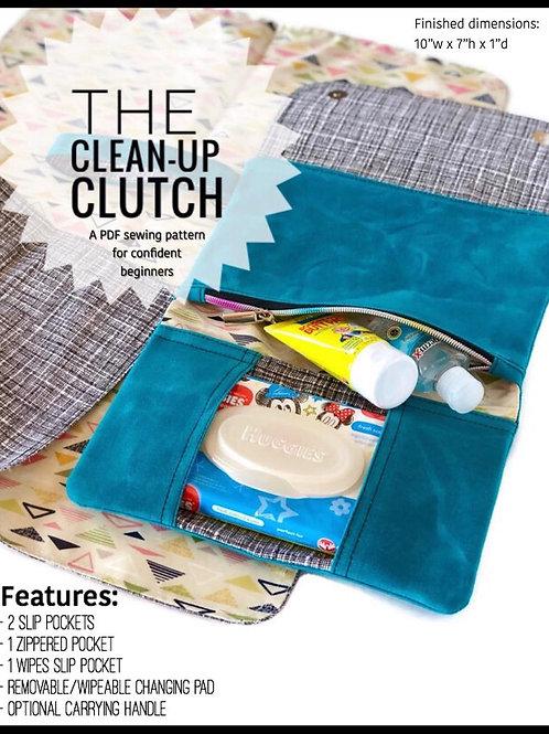 Cleanup Clutch PDF Sewing Pattern