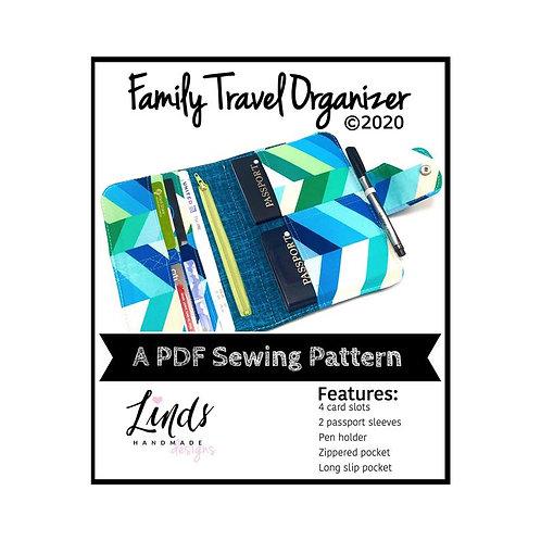 Family Travel Organizer PDF Sewing Pattern, DIY Travel Wallet
