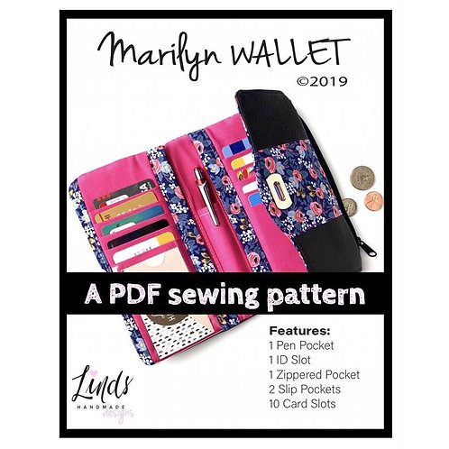 Marilyn Wallet PDF Sewing Pattern