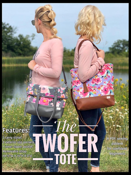 Twofer Tote PDF Sewing Pattern