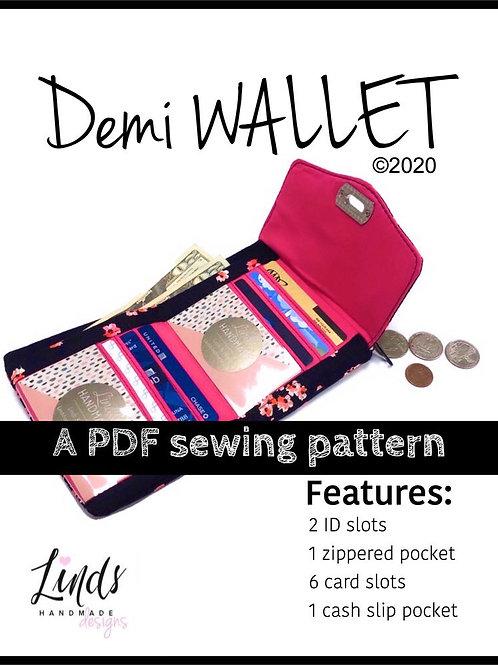 Demi Wallet PDF Sewing Pattern
