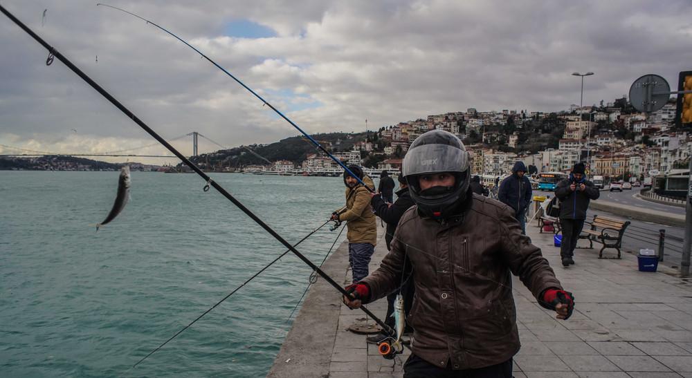 A fisherman in Arnauvtakoy