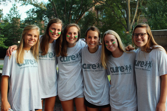 chi o's at a cure uga event