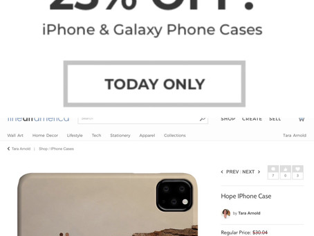 Tara Arnold Art Prints 25% Off iPhone and Galaxy Cases - Today Only! #iphonecases #galaxyphonecase