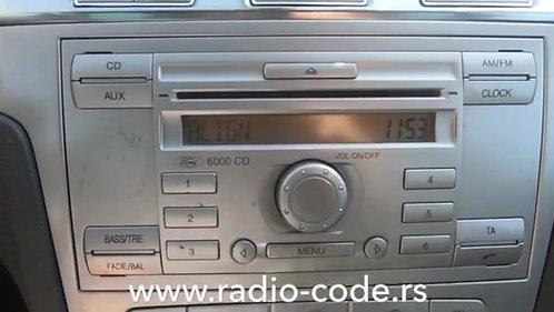 Ford 6000 CD radio code
