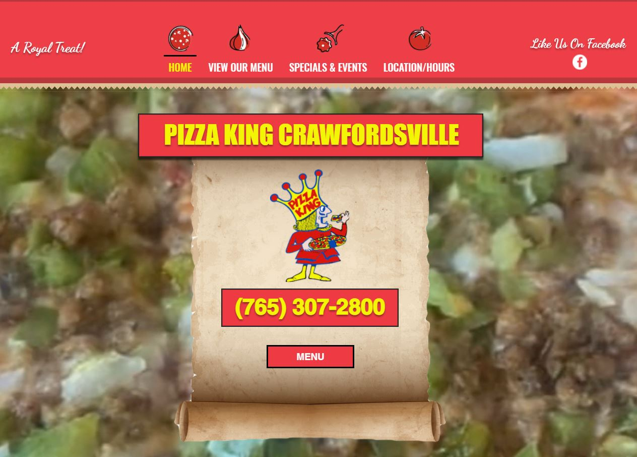 Pizza King Crawfordsville