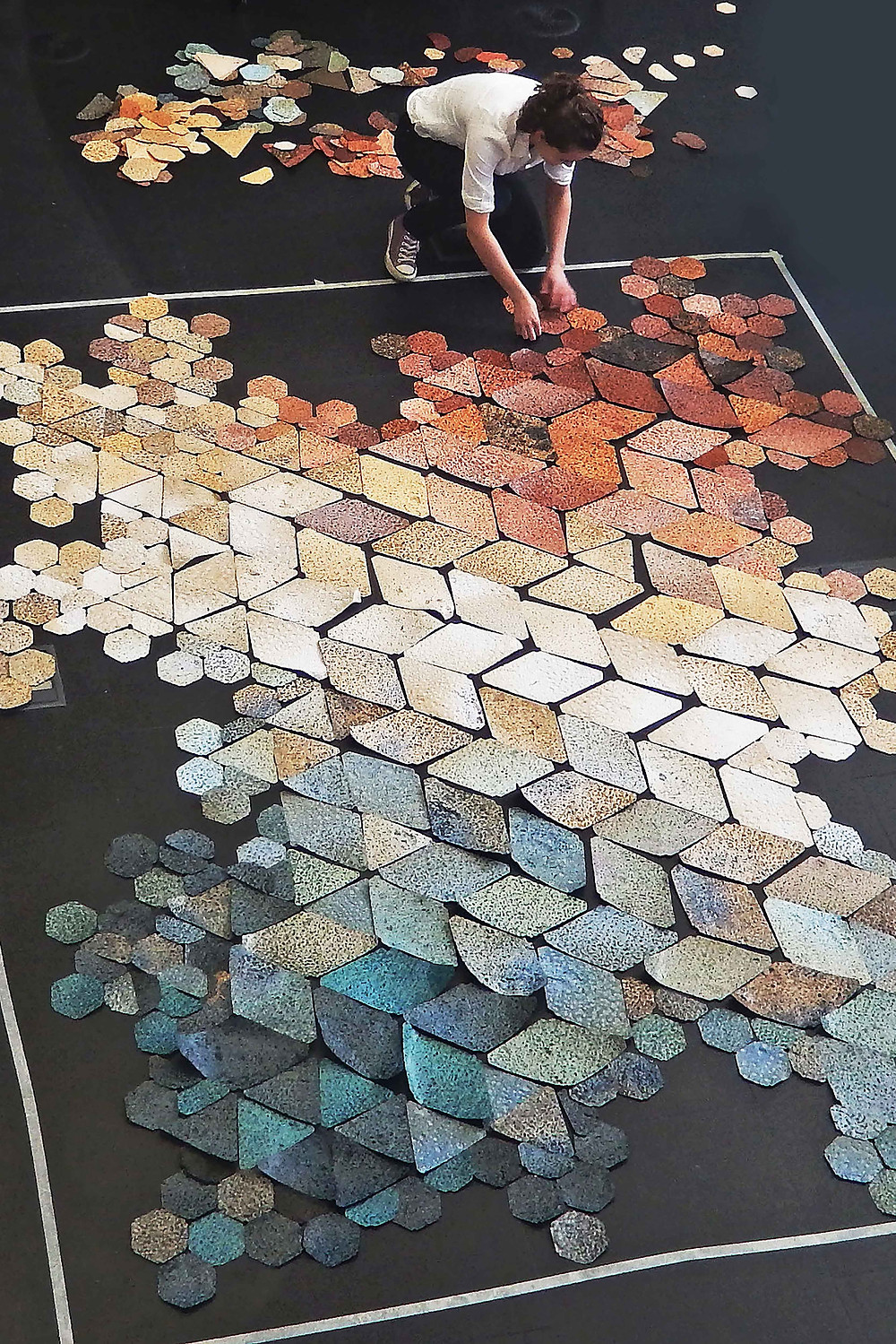 Hannah Elizabeth Jones Biomarble installation