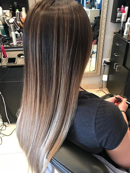 Balayage touchup done on this beauty las