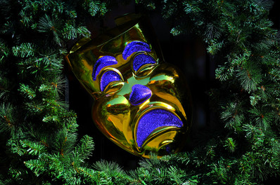 Mardi Gras Gold Mask