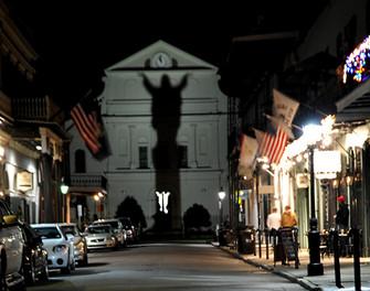God's Shadow - Bourbon Street, New Orleans