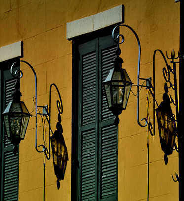 Twins - Hanging Gas Lights near Bourbon Street in New Orleans