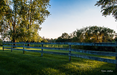 Farm Fence @ Sunset in Nebraska