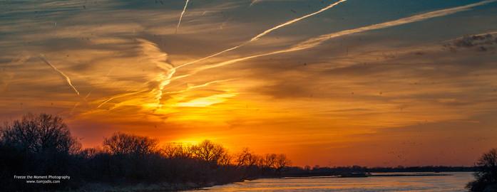 Sunset over the Platte