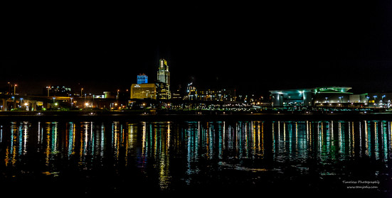 Omaha Skyline from across the river