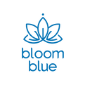 logotipo de bloom blue