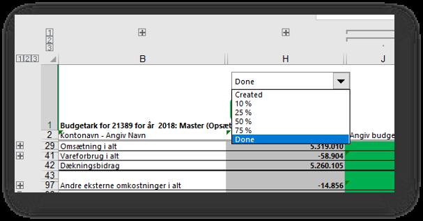 Simplificeret gemmerutine ved budget + nyt workflow
