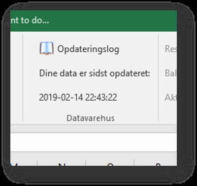 Opdaterings log fra Datawarehouse