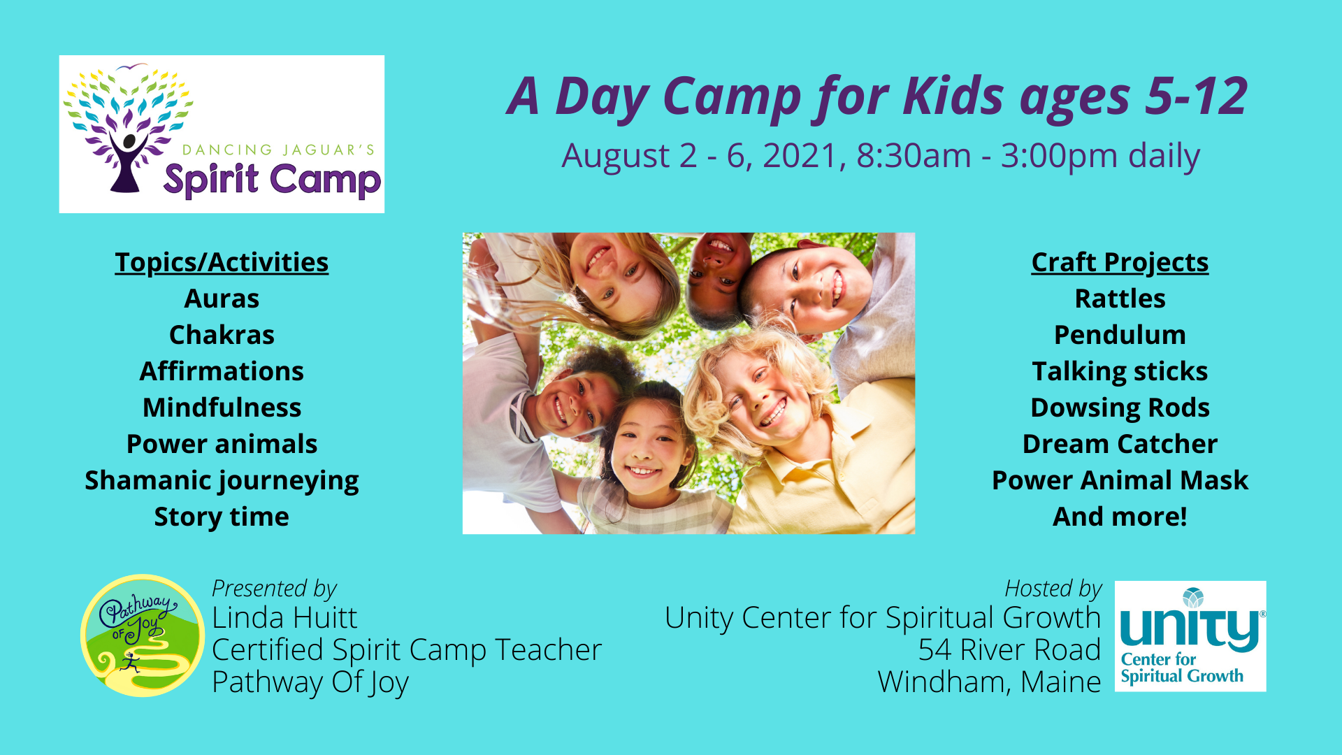 Spirit Camp for Kids Day Camp - Aug 2-6