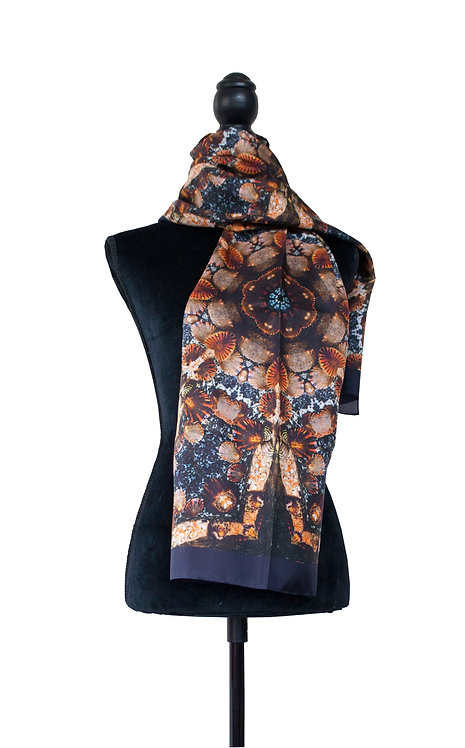 100% Silk Scarf - Limpets