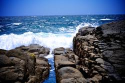 Bingi waves on rock