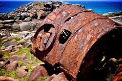 SS Monaro boiler on headland
