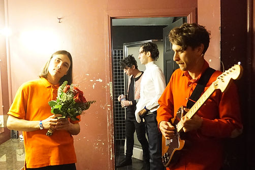 Supercave with drummer Rhys Hastings, backstage in LA