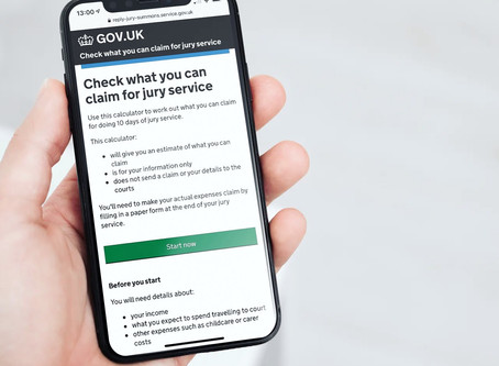 """Now live, """"Check what you can claim for jury service"""" on GOV.UK"""