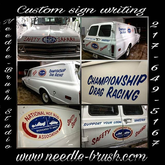 NHRA Safety Safari Drag Truck Custom hand lettered _ Needle-Brush Studio , Champaign, IL , By Matt E