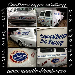 NHRA Safety Safari Drag Truck Custom hand lettered _ Needle-Brush Studio , Champaign, IL , By Matt E