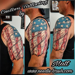 Today I got to get the final pass in on this to add the white and final details to the American flag