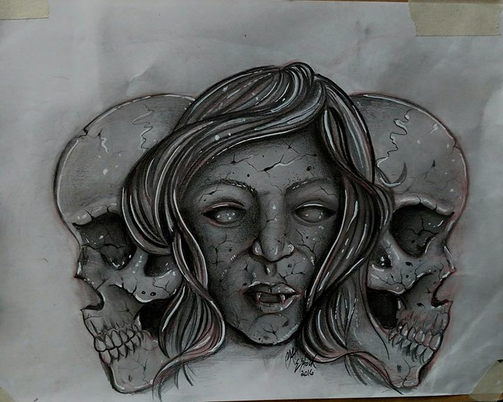 Finished product, kustom and fully  Freehanded.jpg Done with graphite.jpg .jpg now let's me tattoo i