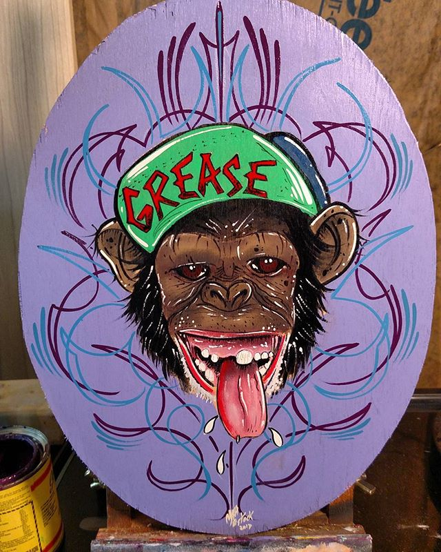 It's a wrap.jpg (Grease Monkey) 9x12 in sign .jpg.jpg this was super fun.jpg.jpg freehand pinstripin