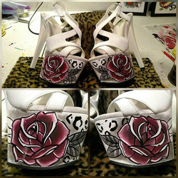 These are gonna be some pretty bitchen Heels if you ask me .. yes I Paint absolutely everything .