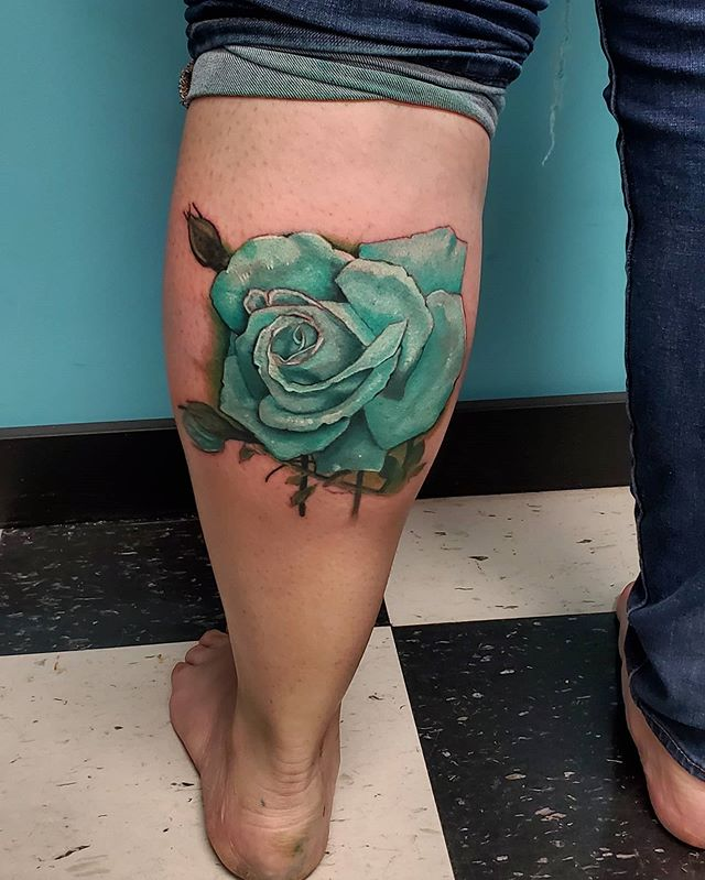 todays super fun Teal Rose