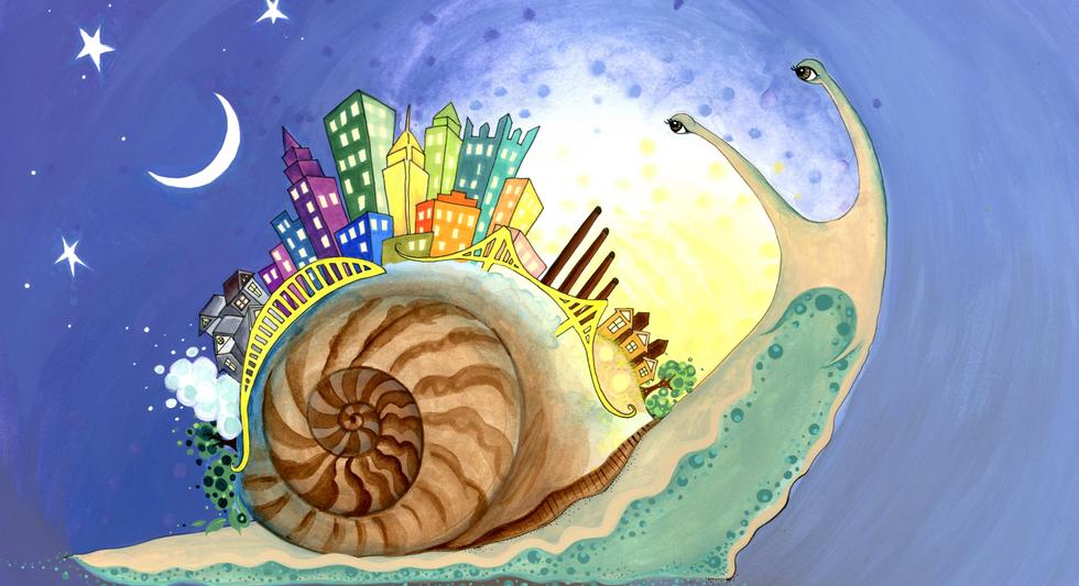 Snail City, by Katya Malkin