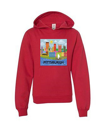 Pittsburgh Pop Art Hoodies, by April Minech