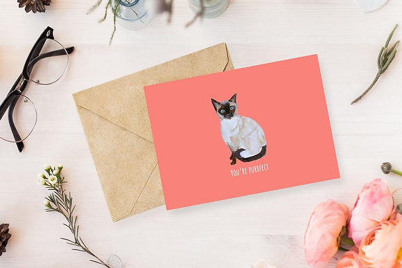 You're Purrrfect, Card by Liffey Pop Designs