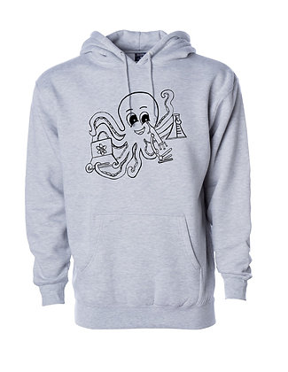 Pittsburgh & Scientific Octopus and Dragon Hoodies, Art by Debbie Jacknin
