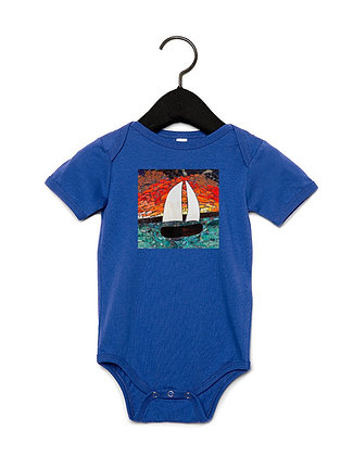 Love Will Sea You Through Onesies, by Debbie Jacknin of Mosaic Glass Creations