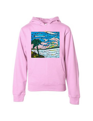 Love Will Sea You Hoodie, by Debbie of Mosaic Glass Creations