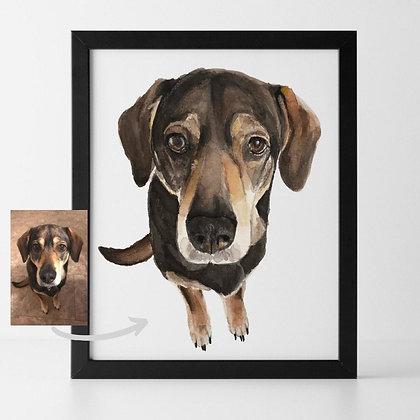 Pet Portrait by Liffey Pop, one pet - email us a photo of your pet